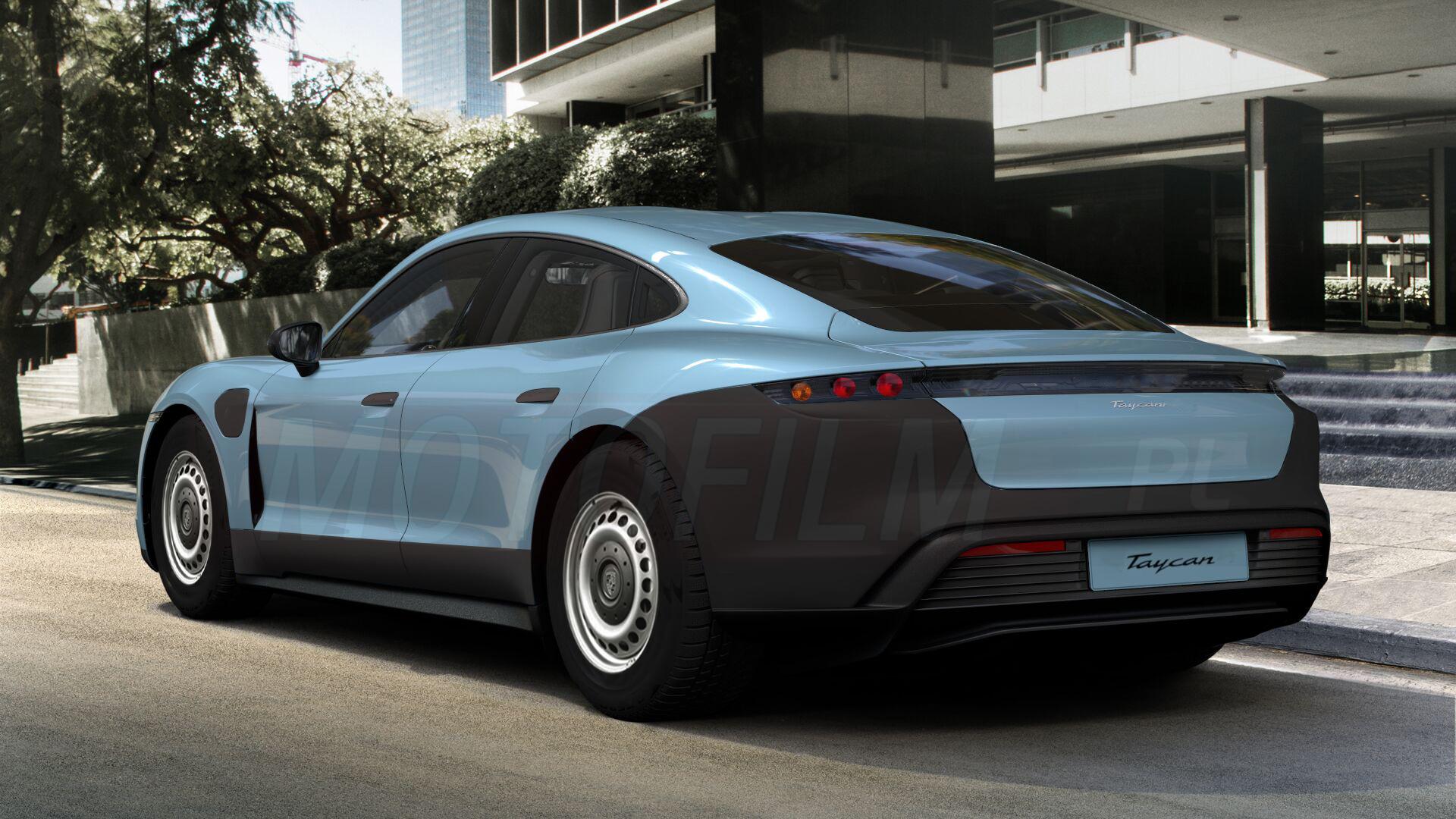 Porsche Taycan - rendering wersji podstawowej