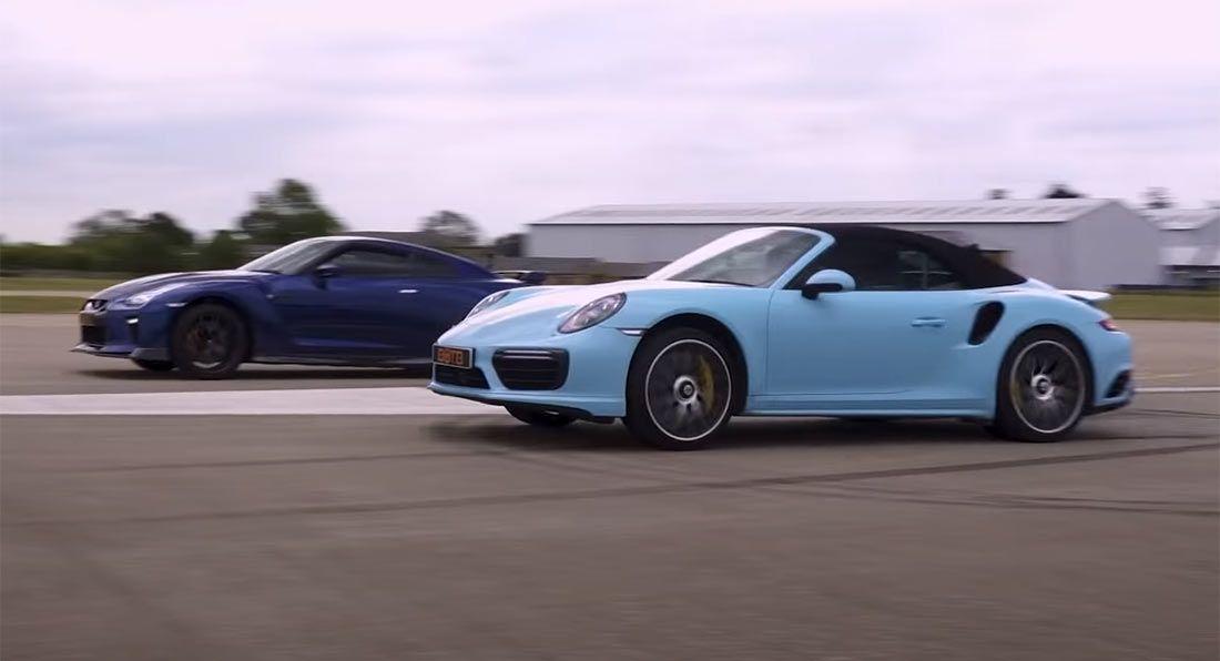 Porsche 911 Turbo S vs. Nissan GT-R 700 KM
