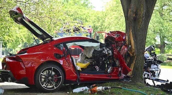 Toyota GR Supra - kasacja, szkoda całkowita, wypadek