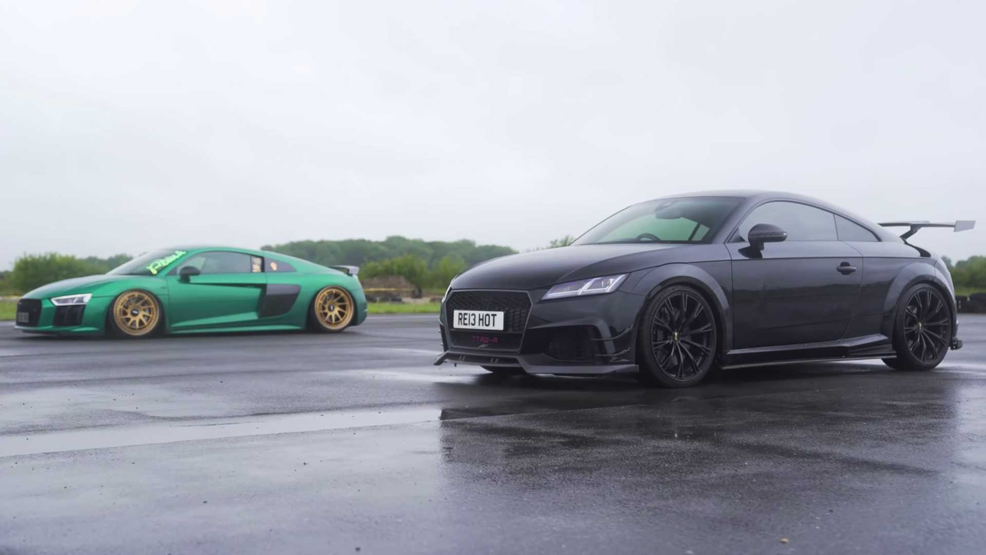 Audi R8 V10 Plus vs. Audi TT RS po tuningu ABT