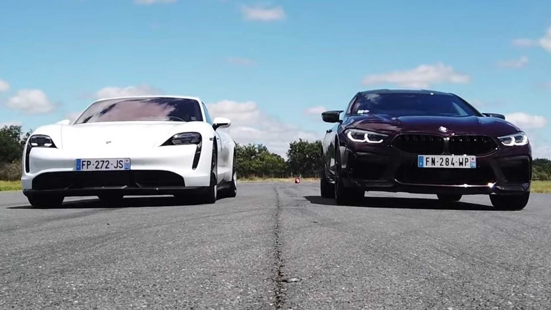 Porsche Taycan Turbo S vs. BMW M8 Gran Coupe