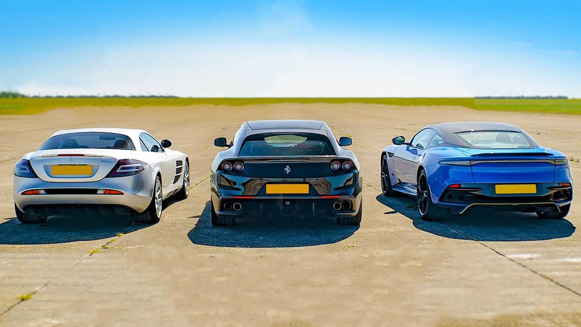 SLR McLaren vs Ferrari GTC4 i Aston Martin DBS