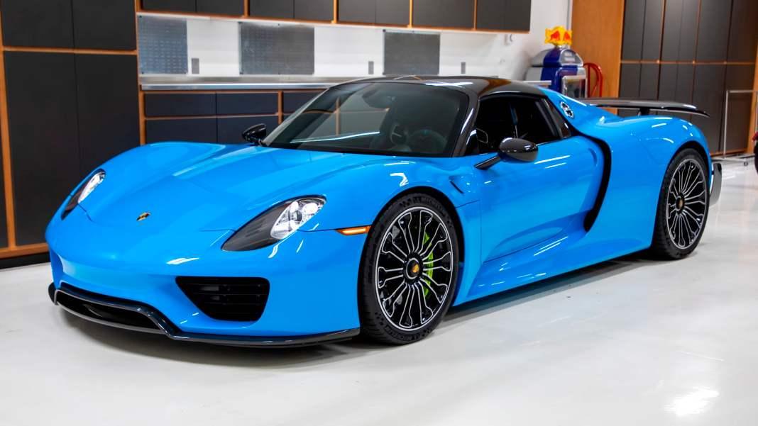 Porsche 918 Spyder - niebieskie