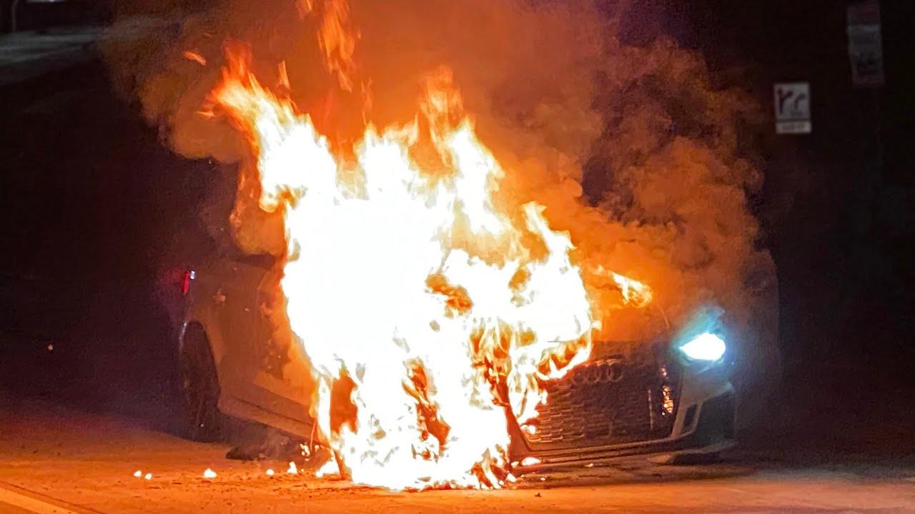 1100-konne Audi RS3 Limousine zapaliło się