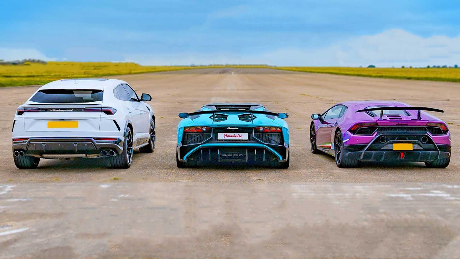 Lamborghini Urus vs. Lamborghini Aventador vs. Lamborghini Huracan