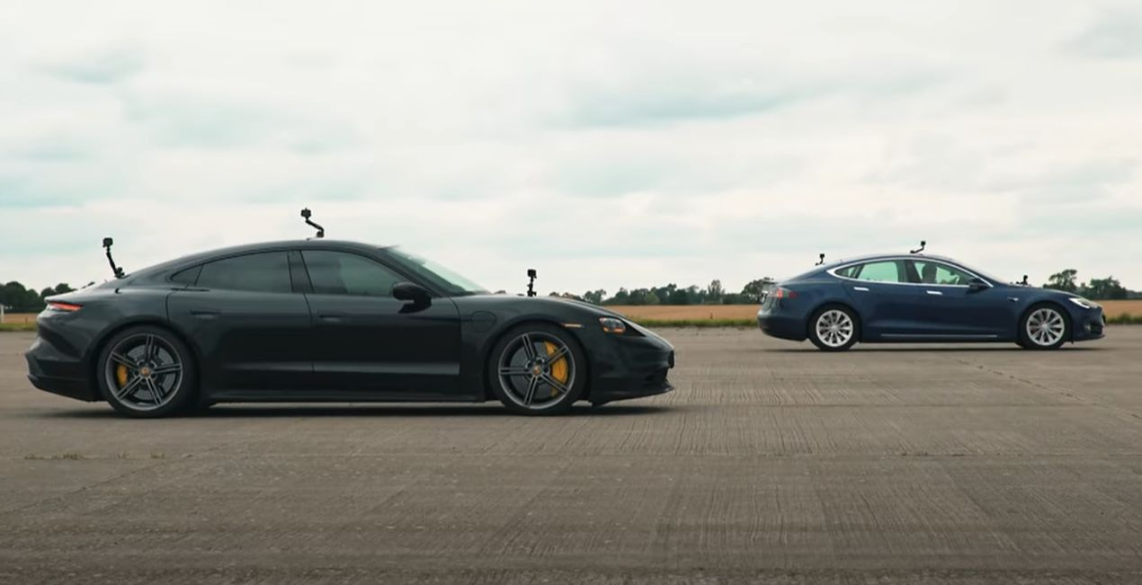 Tesla Model S Cheetah Stance vs. Porsche Taycan Turbo S