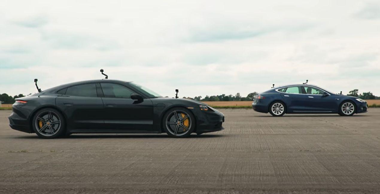 Tesla Model S Cheetah Stance vs. Porsche Taycan Turbo S