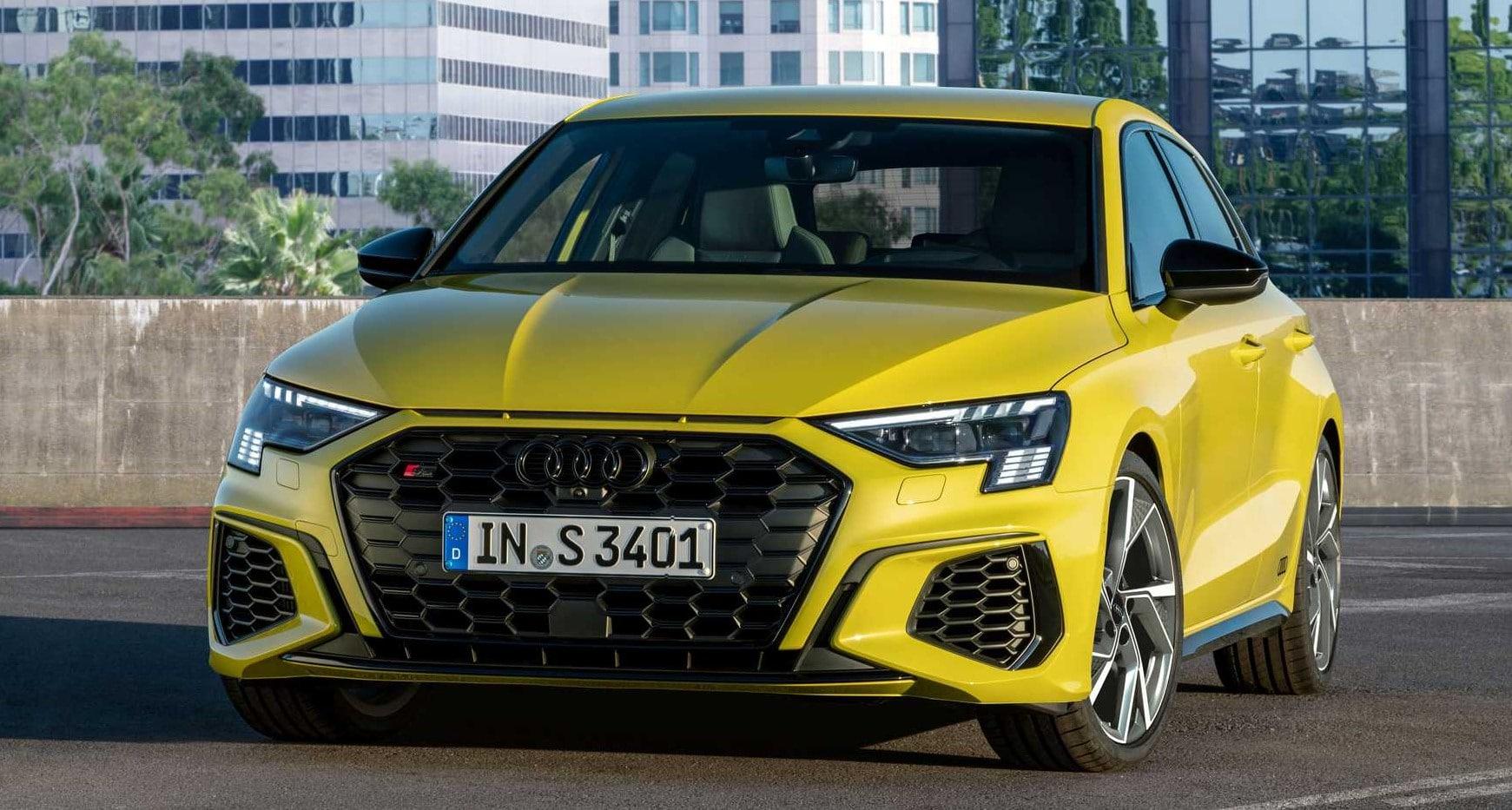 Audi S3 Sportback 2021 – kolor żółty