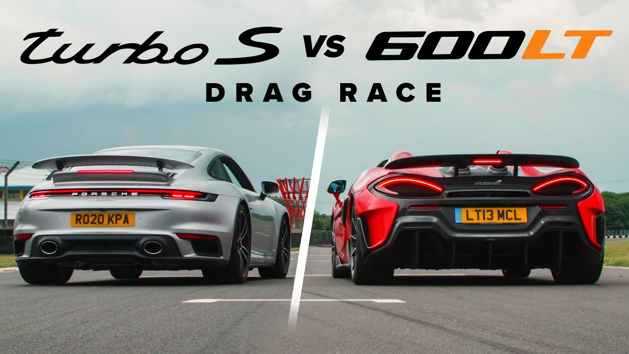 Porsche 911 Turbo S vs. McLaren 600LT Spider