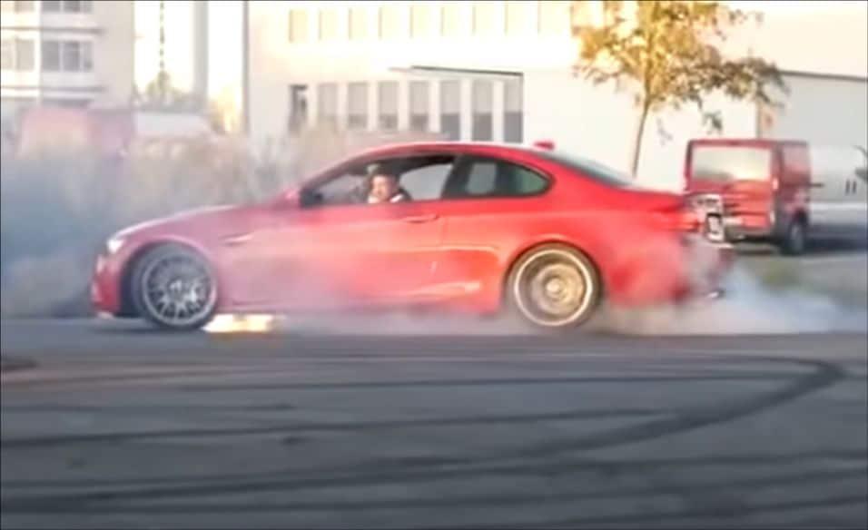 BMW M3 E90 - wybuch, eksplozja, awaria