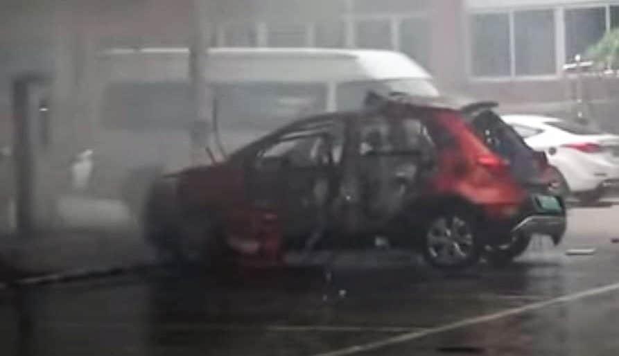 BAIC EX360 - eksplozja samochodu elektrycznego