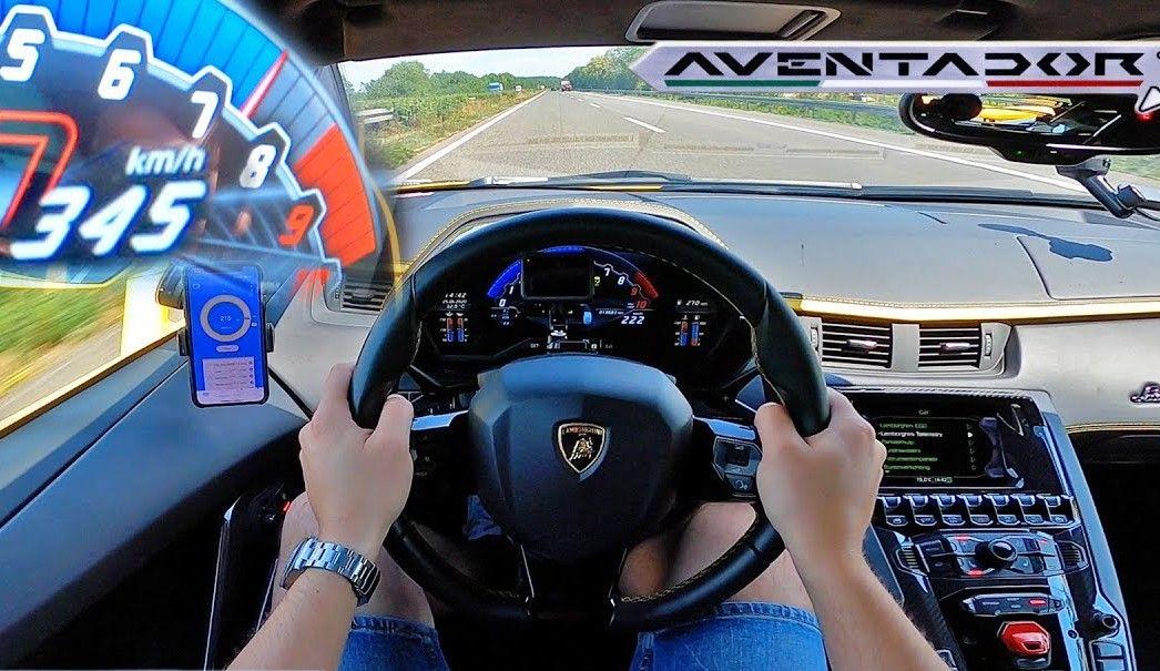 Lamborghini Aventador S - Vmax na autostradzie