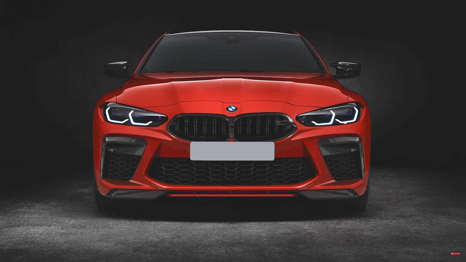 BMW M4 2021 po tuningu Prior Design (mniejszy grill)