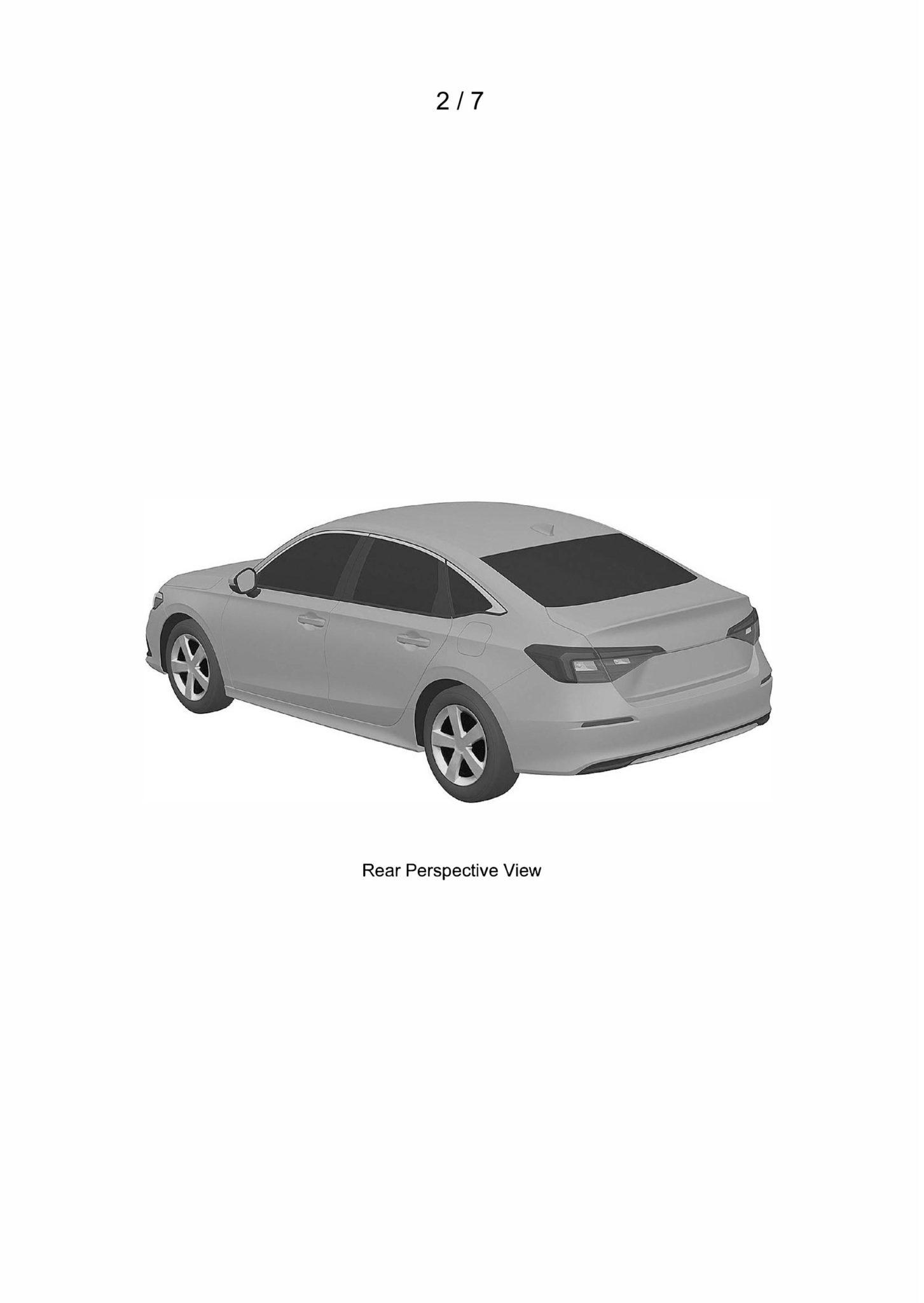 Honda Civic Type R (2021) – zdjęcia patentowe