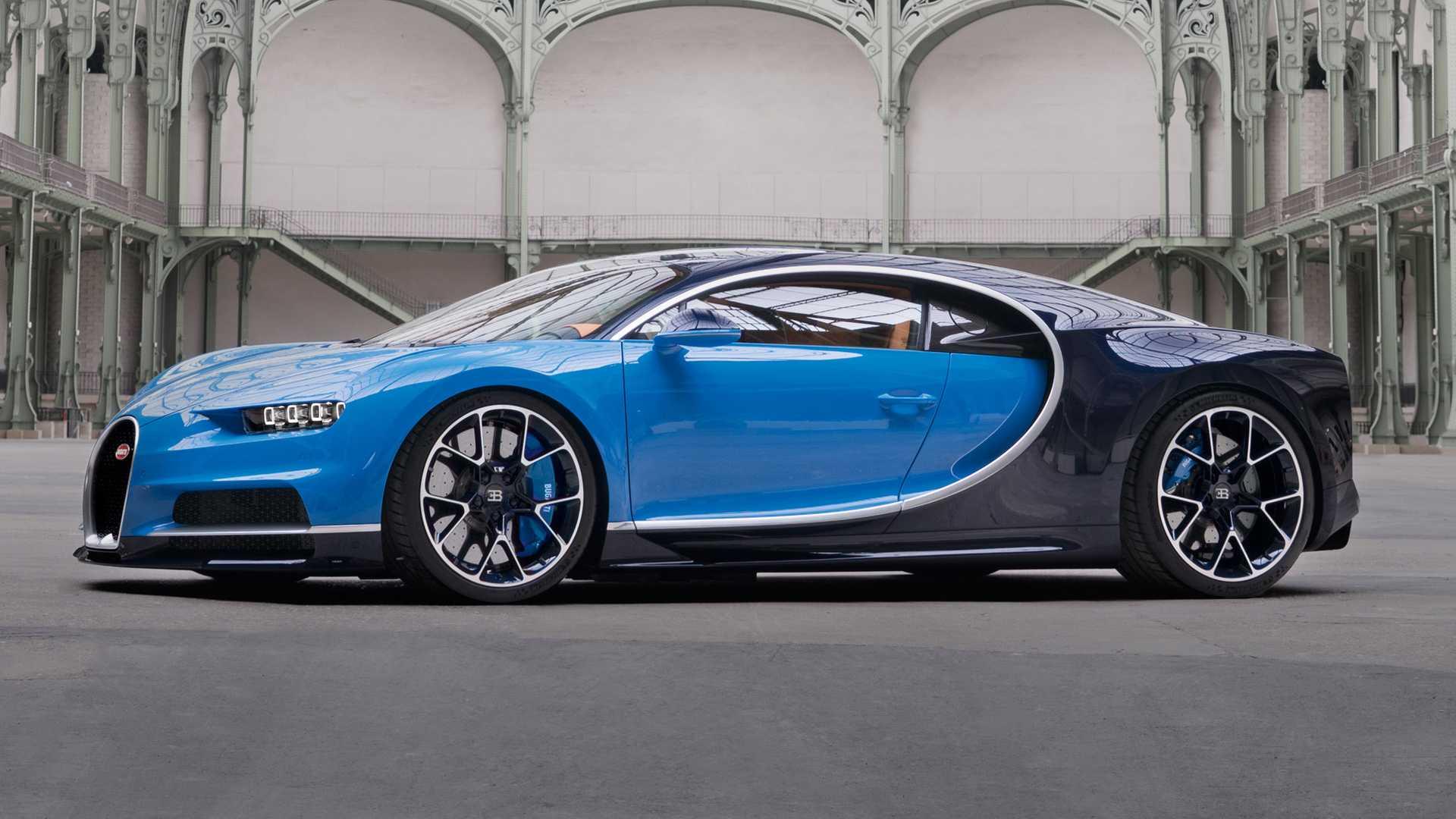 Bugatti Chiron (niebieskie)