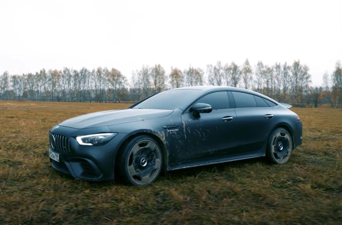 Mercedes-AMG GT 4-Door Coupe: spalony egzemplarz