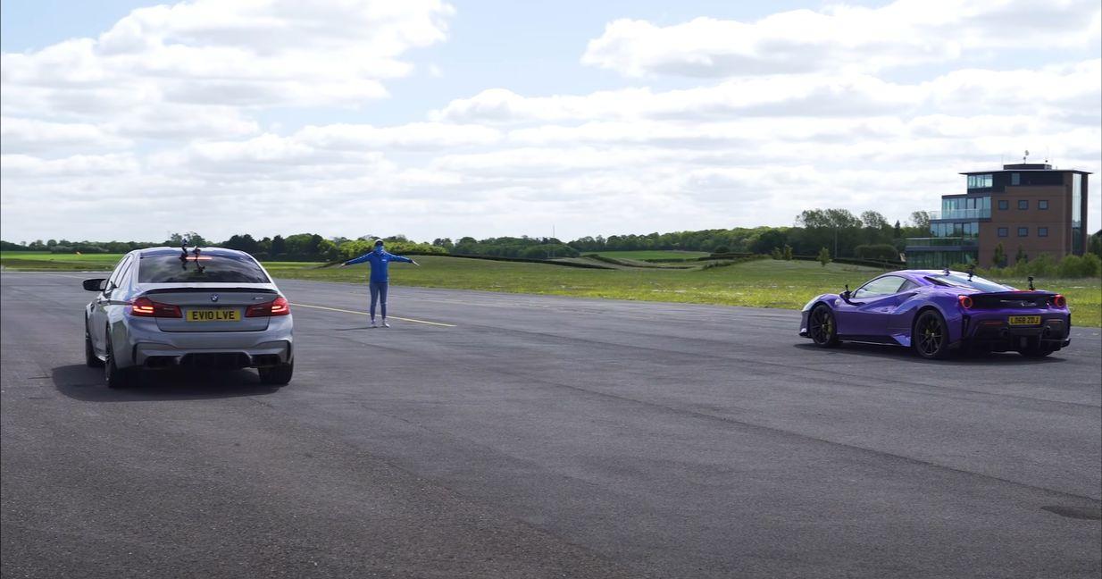 BMW M5 vs. Ferrari 488 Pista