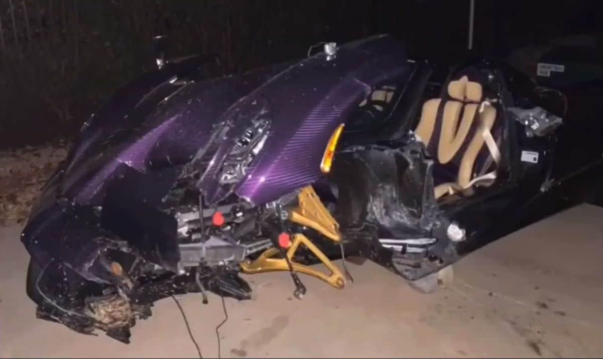 Pagani Huayra Roadster po wypadku