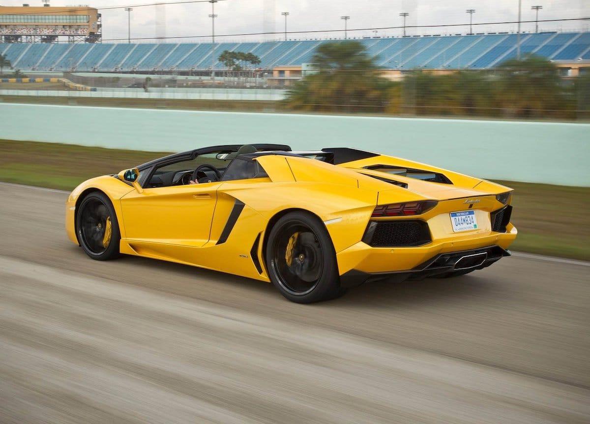 Lamborghini Aventador Roadster: kolor żółty