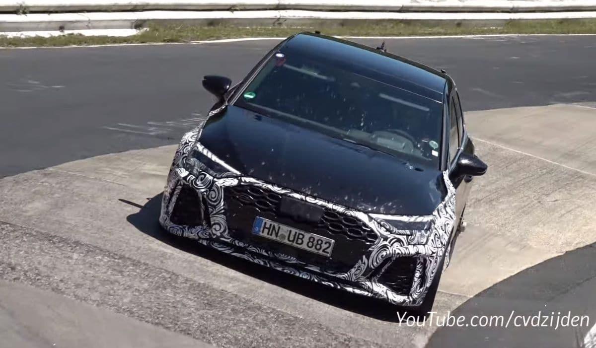 Audi RS3 (2022): prototyp (zdjęcie szpiegowskie)