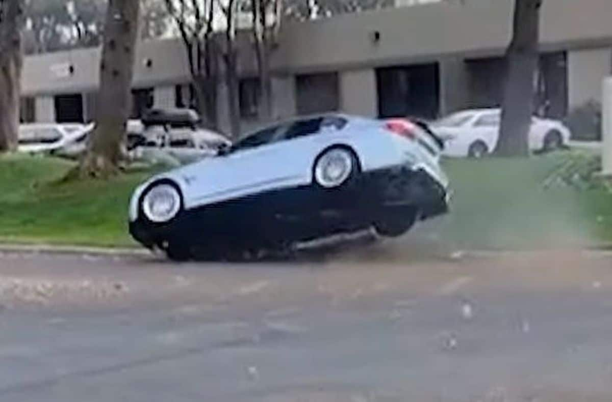 BMW M3 F80: wypadek podczas driftu
