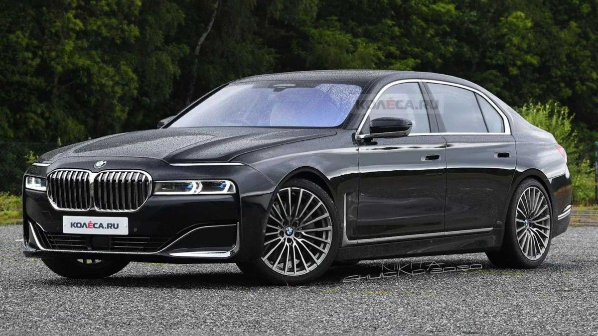 BMW serii 7 (2022): rendering - przód