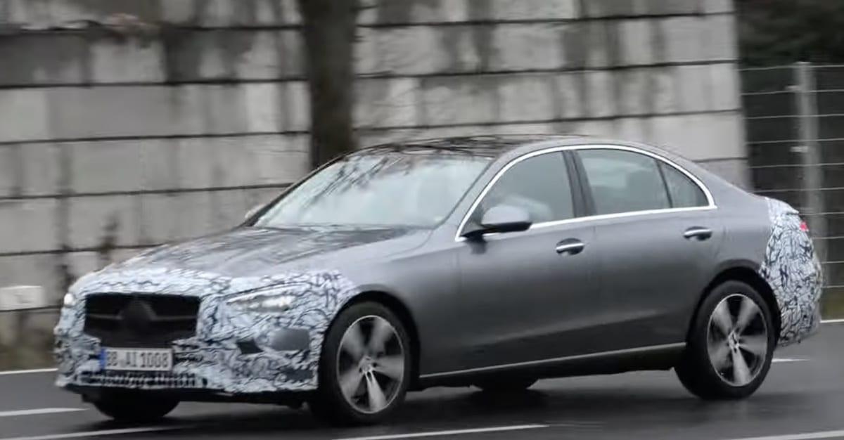 Mercedes Klasy C (W206) 2022: zdjęcie szpiegowskie