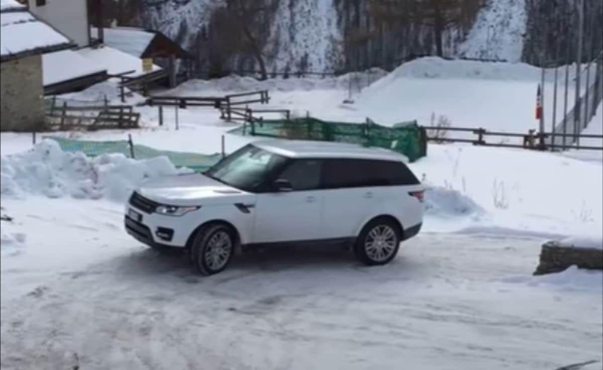 Range Rover na śniegu vs. Fiat Panda 4X4