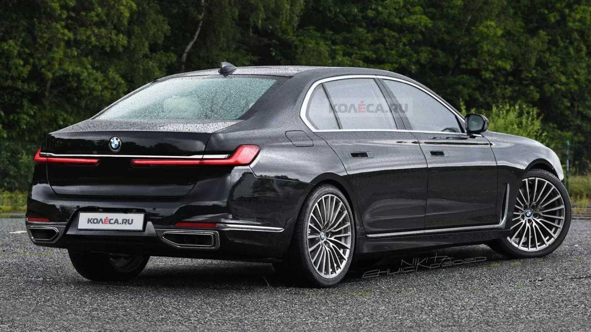 BMW serii 7 (2022): rendering - tył
