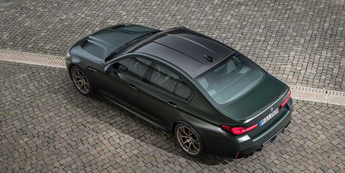BMW M5 CS (2021): dach z włókna węglowego