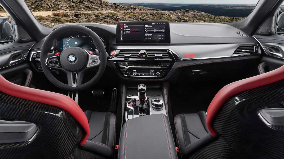 BMW M5 CS (2021): wnętrze