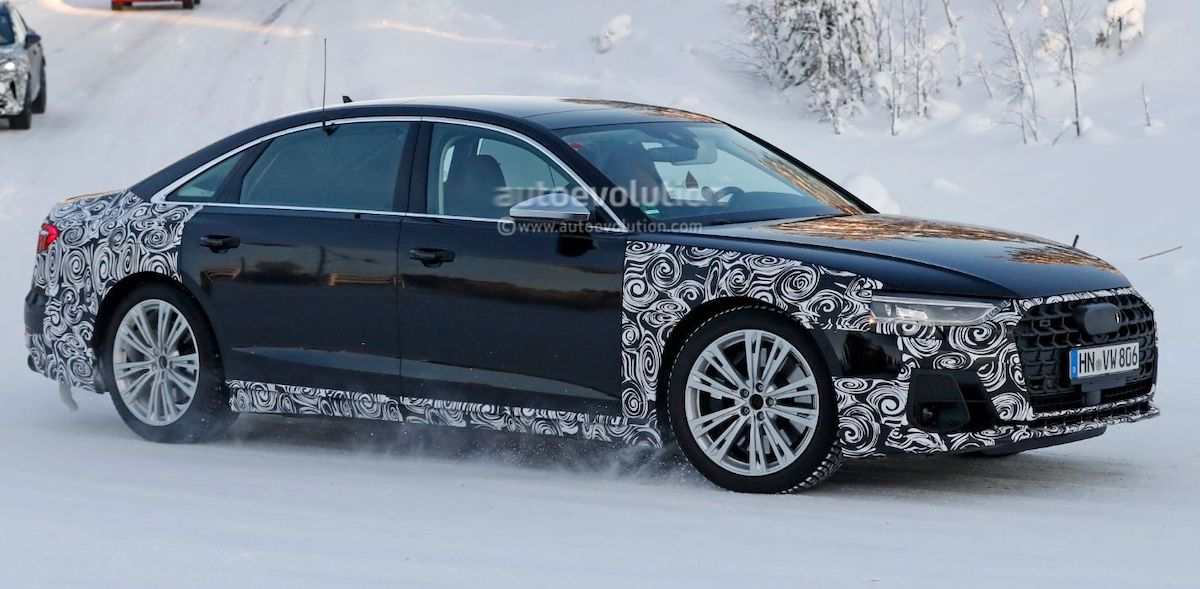 Audi S8 Plus (2022): zdjęcie szpiegowskie, przód