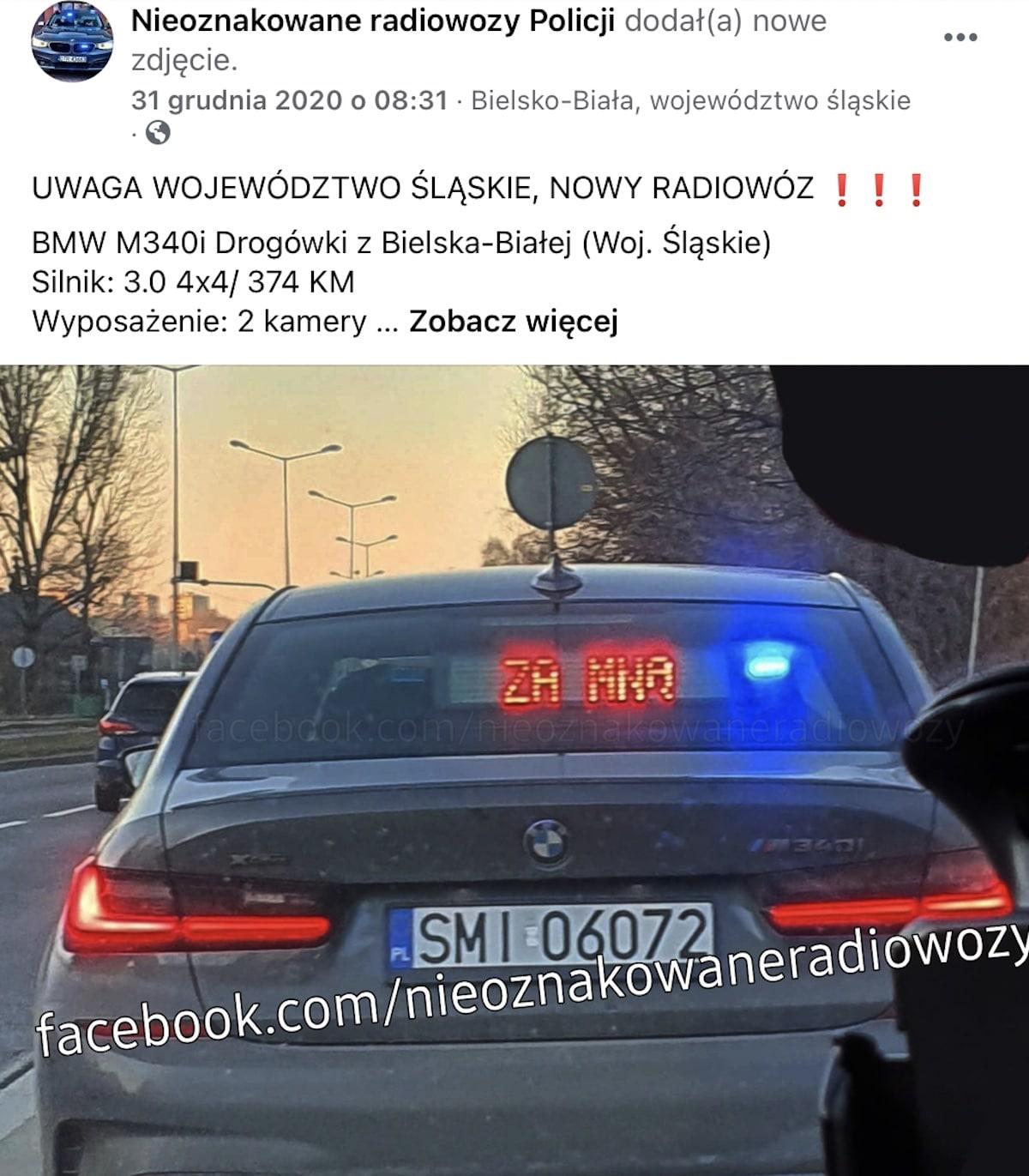 BMW M340i xDrive: nieoznakowany radiowóz