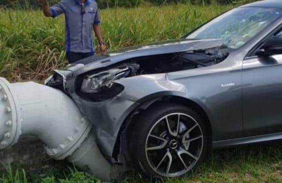 Mercedes-AMG E43: wypadek