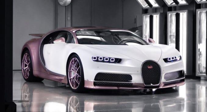 Bugatti Chiron Alice: różowe