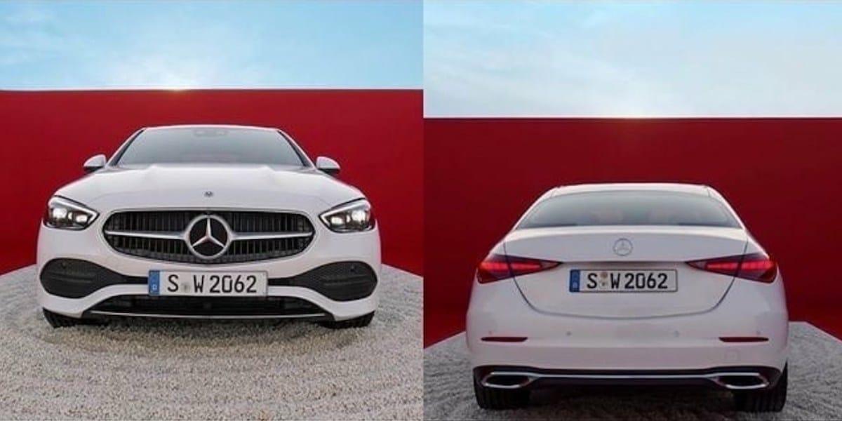 Mercedes Klasy C (W206): wyciek zdjęć, przód i tył