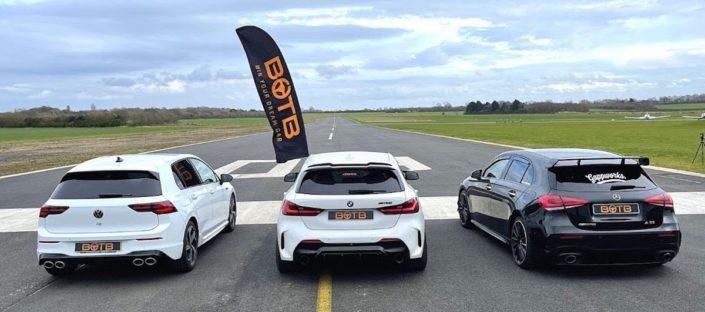 Volkswagen Golf R vs. BMW M135i vs. Mercedes-AMG A35