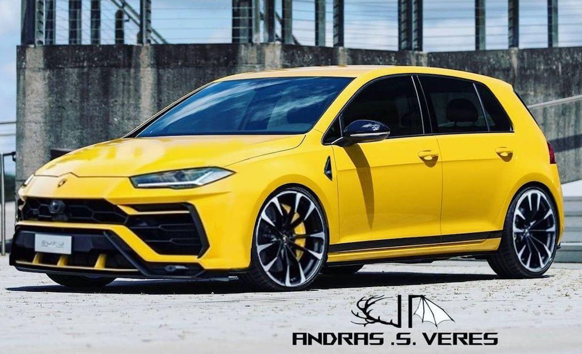 Lamborghini hothatch: rendering
