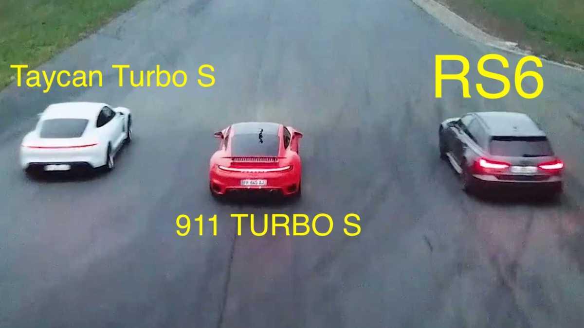 Porsche Taycan Turbo S vs. Porsche 911 Turbo S vs. Audi RS6