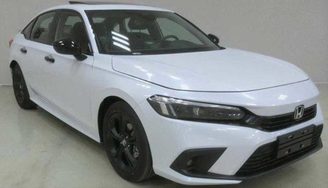 Honda Civic XI (2022): wyciek zdjęcia, przód, biała