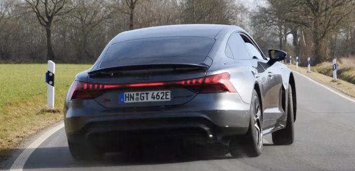 Audi RS E-Tron GT: jazda bokiem