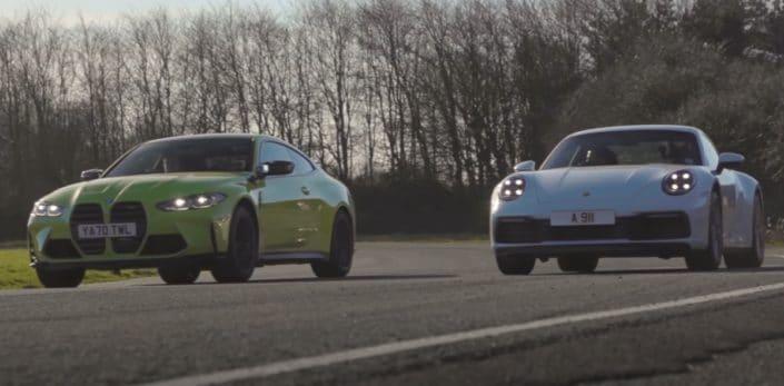 BMW M4 vs. Porche 911 Carrera (2021)