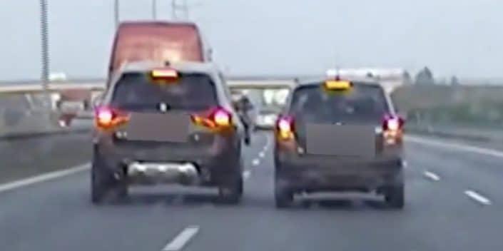 BMW X3 vs. Skoda Fabia: zatrzymanie na S8