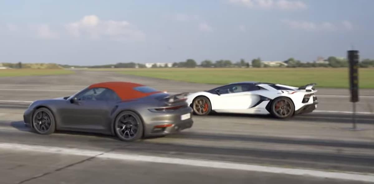 Porsche 911 Turbo S vs. Lamborghini Aventador SVJ