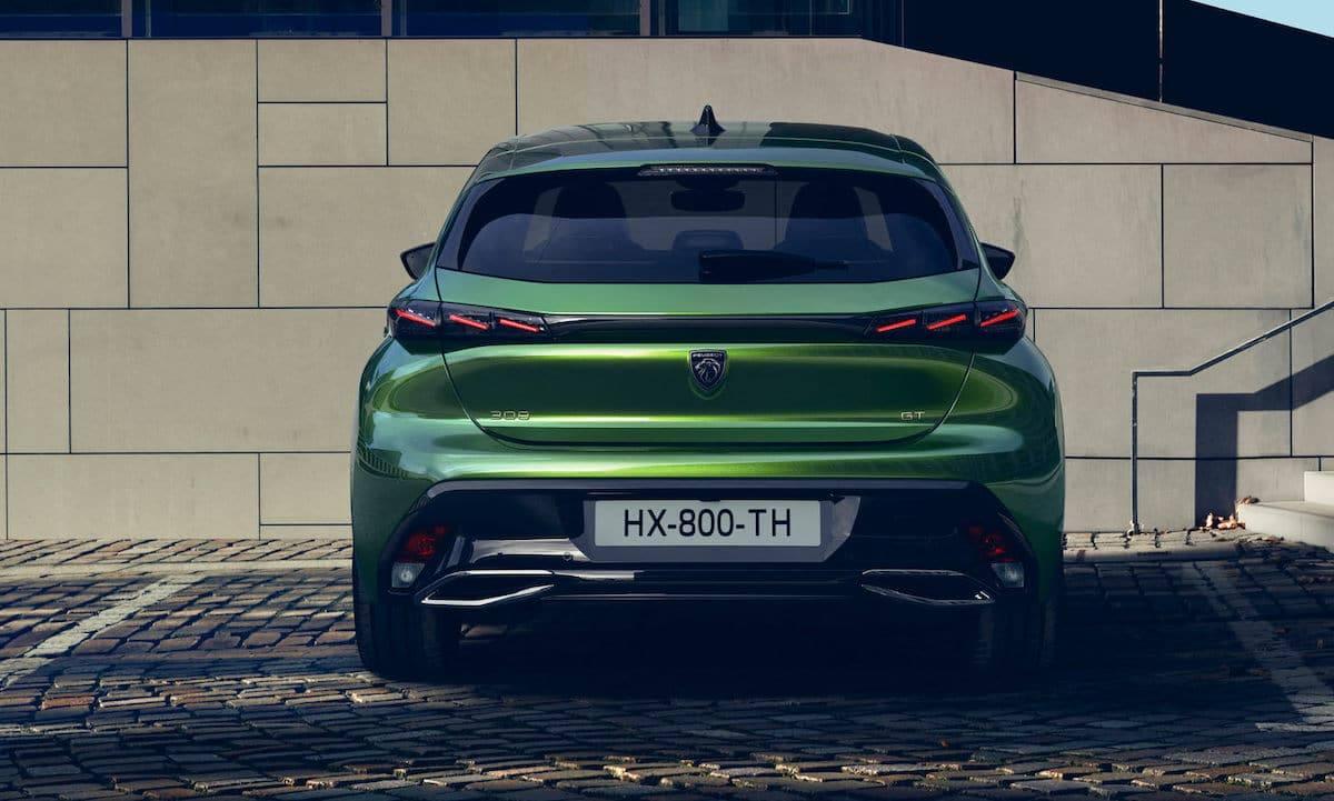 Peugeot 308 (2021) Olivine Green, tył