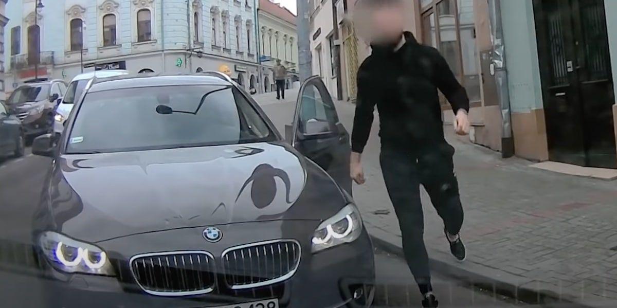 BMW serii 5 z Tarnowa i agresywny kierowca