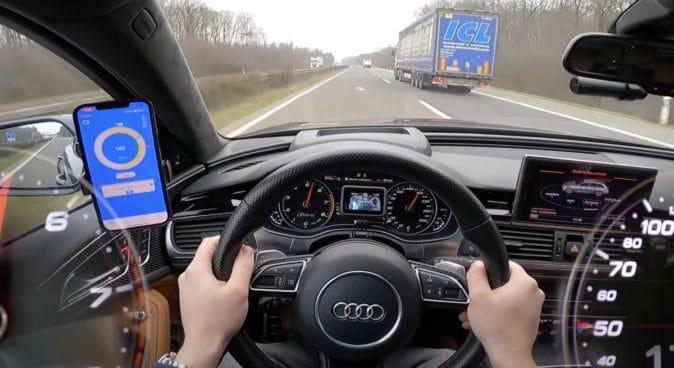 Audi RS6 C7, jazda po autostradzie