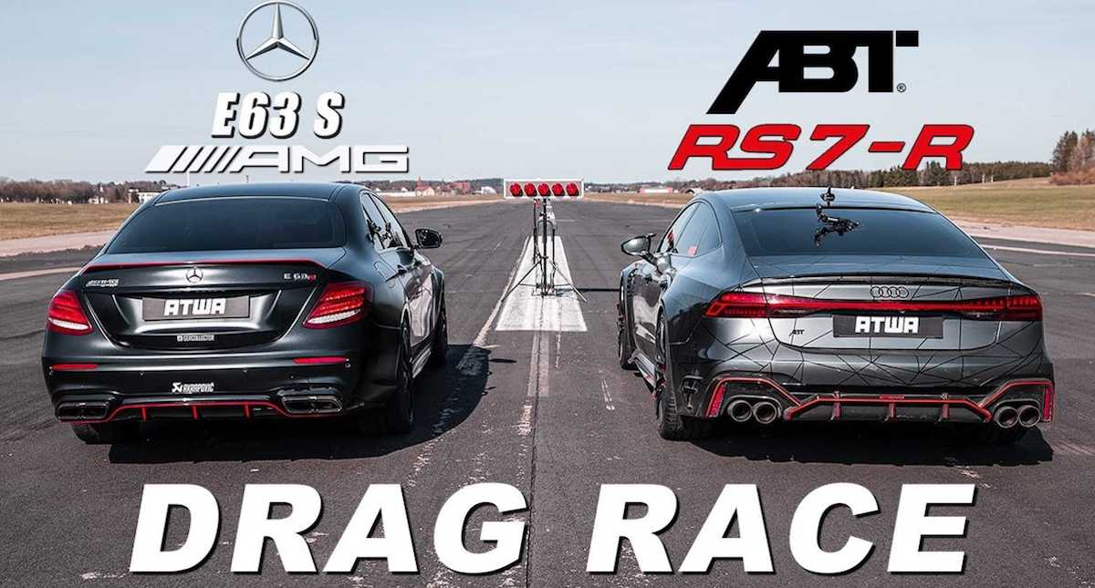 Audi RS7-R vs Mercedes-AMG E63 S, ABT