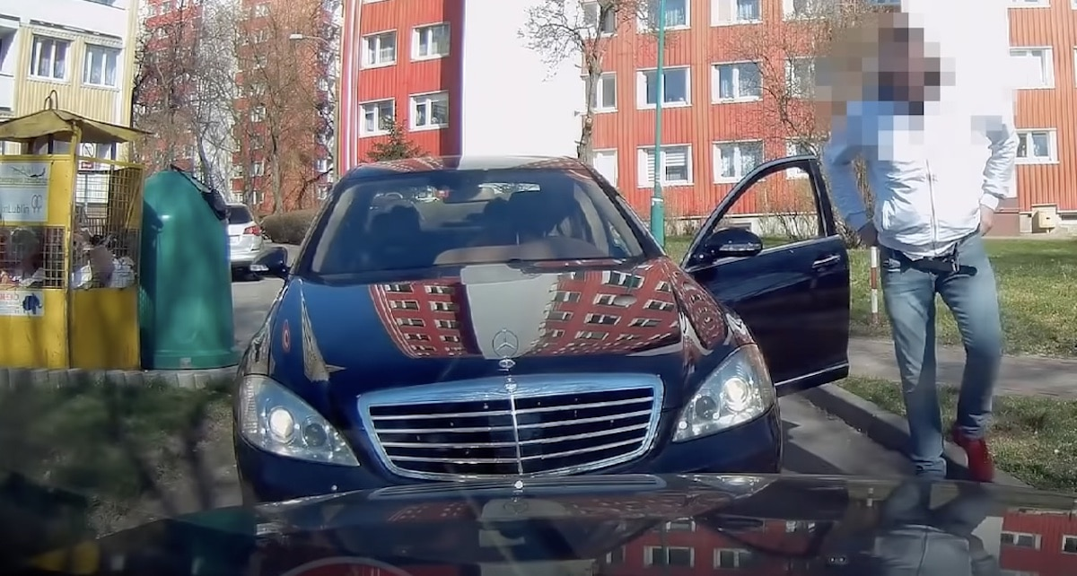 Agresja drogowa, Mercedes Klasy S