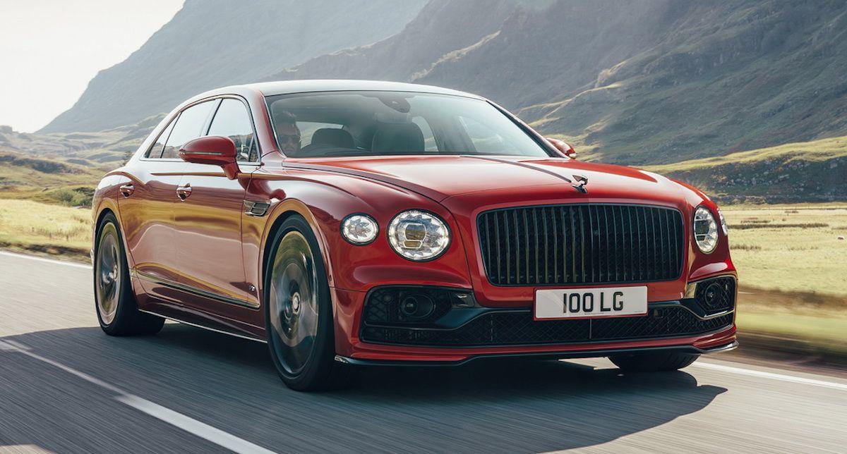 Bentley Flying Spur V8, czerwony, przód